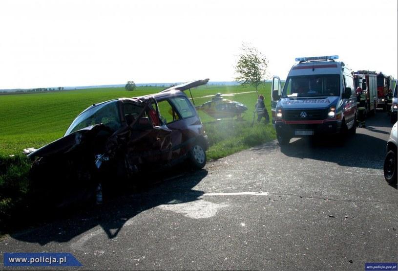 Zdjęcie z miejsca wypadku /Policja
