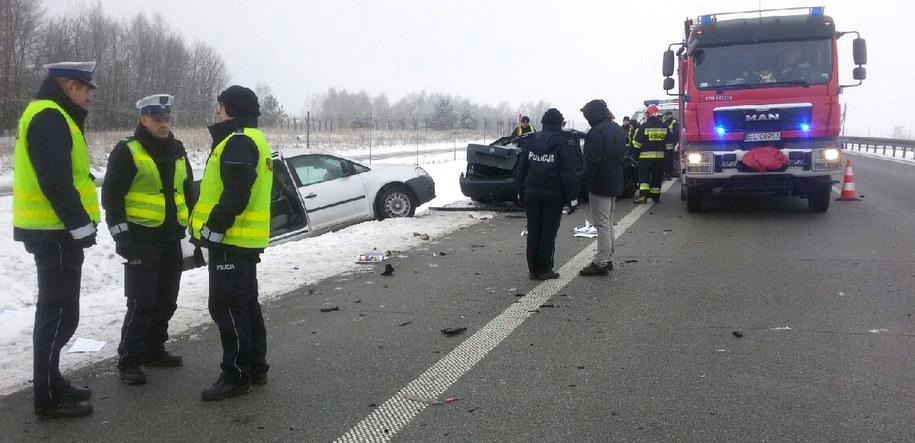 Zdjęcie z miejsca wypadku /PAP/Policja /PAP