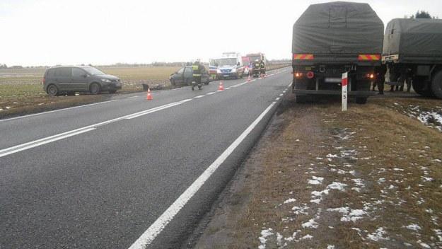 Zdjęcie z miejsca wypadku /Kontakt24 /TVN24.pl
