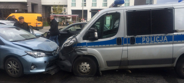 Zdjęcie z miejsca wypadku /Michał Dobrołowicz, RMF FM  /RMF FM