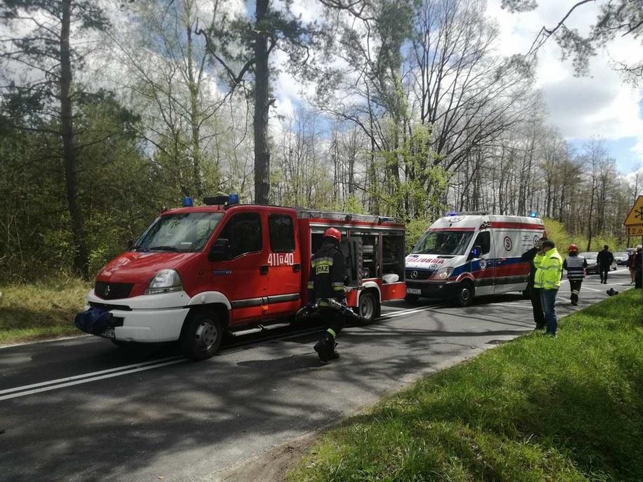 Zdjęcie z miejsca wypadku /112Tychy.pl /Gorąca Linia RMF FM