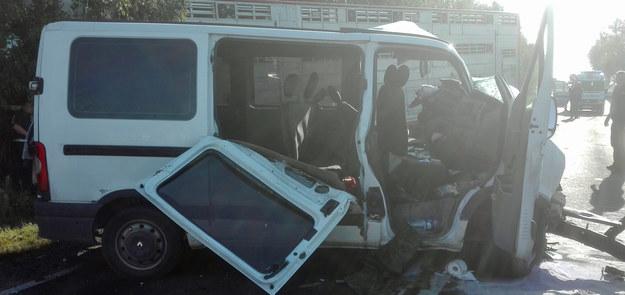 Zdjęcie z miejsca wypadku /KP PSP Radziejów /