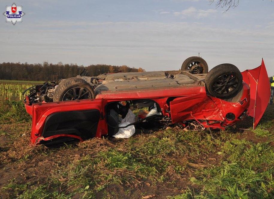Zdjęcie z miejsca wypadku /http://lubelska.policja.gov.pl/ /