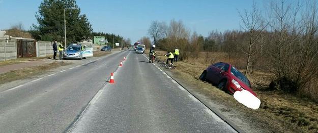 Zdjęcie z miejsca wypadku /PSP LEGIONOWO /