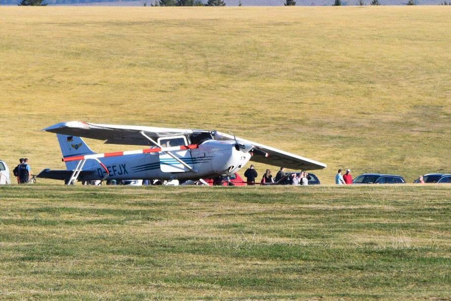 Zdjęcie z miejsca wypadku //OSTHESSEN NEWS / Kipper /PAP/EPA