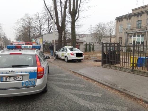 Zdjęcie z miejsca wypadku /Łódzka policja /Policja