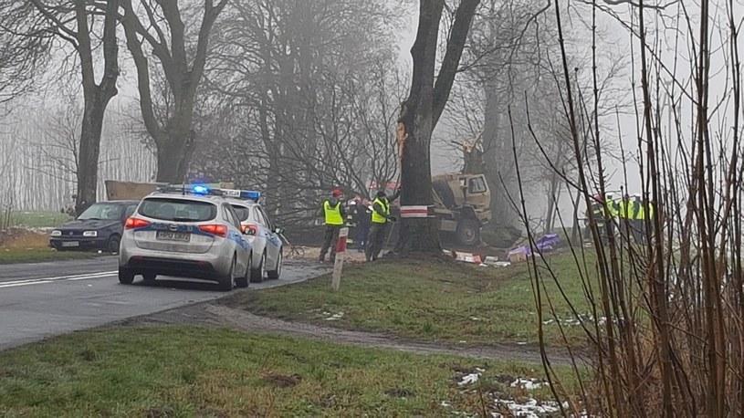Zdjęcie z miejsca wypadku /foto. Gorąca Linia RMF FM /