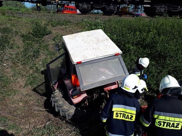 Zdjęcie z miejsca wypadku /OSP Racławice Śląskie /