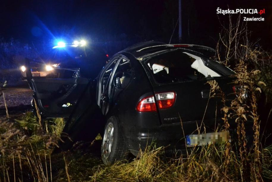 Zdjęcie z miejsca wypadku /Śląska policja /