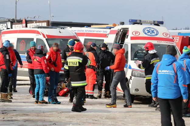 Zdjęcie z miejsca wypadku / Grzegorz Momot    /PAP