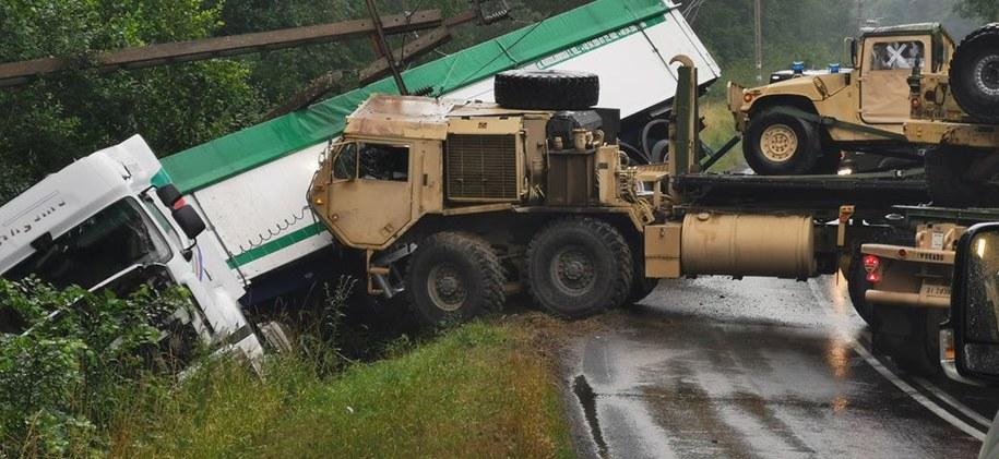 Zdjęcie z miejsca wypadku /https://www.lokalnyreporter.pl/ /