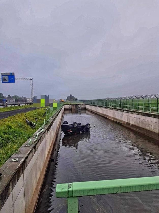 Zdjęcie z miejsca wypadku /Komisariat Autostradowy Policji w Krakowie /
