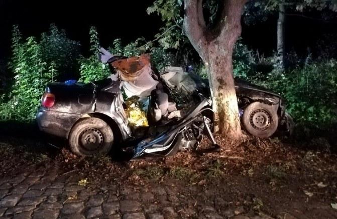 Zdjęcie z miejsca wypadku /PSP