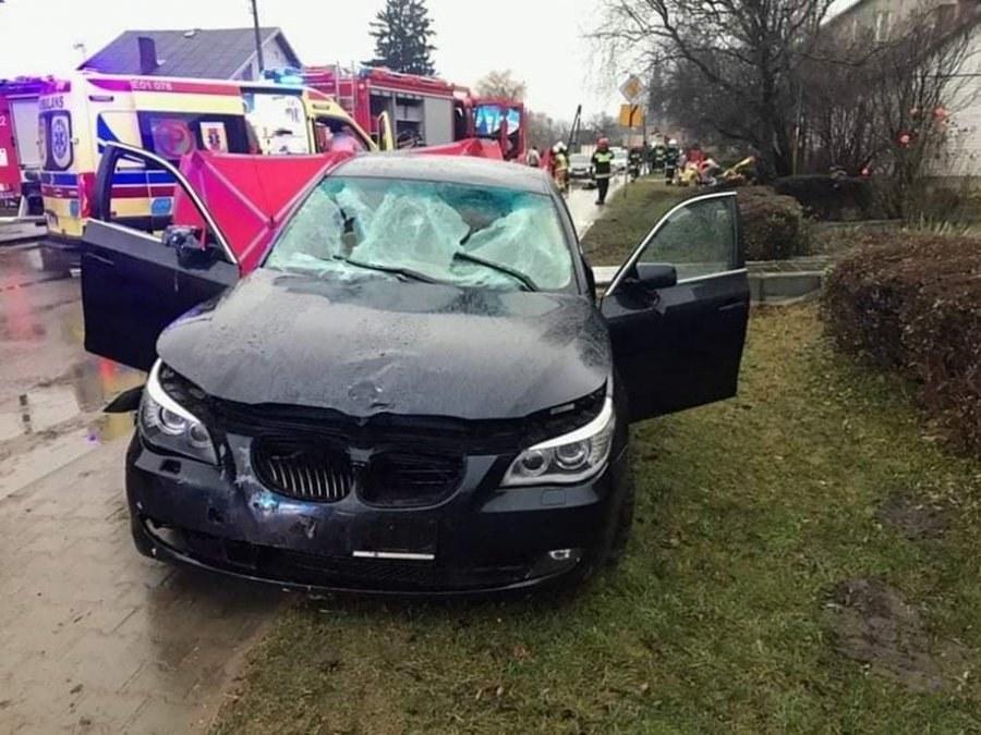 Zdjęcie z miejsca wypadku /PSP Łowicz /