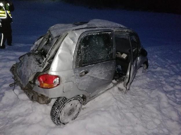 Zdjęcie z miejsca wypadku /podkarpacka.policja.gov.pl /