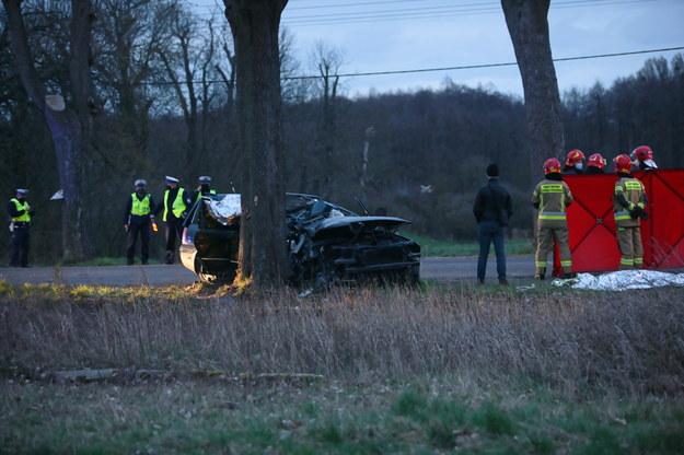 Zdjęcie z miejsca wypadku /Lech Muszyński /PAP