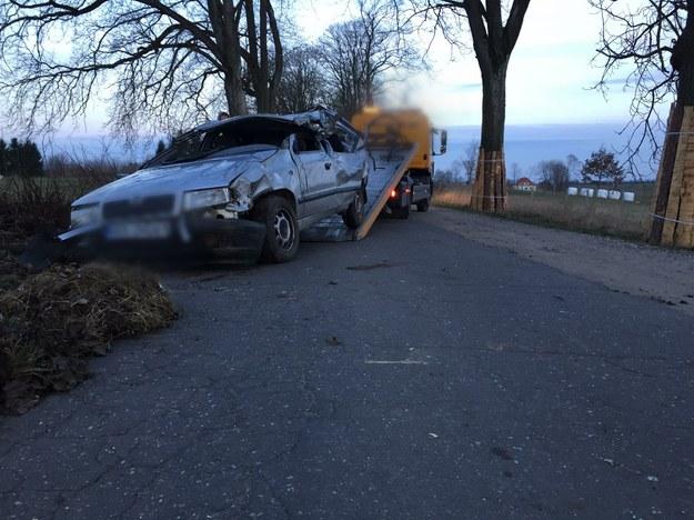 Zdjęcie z miejsca wypadku /KMP Olsztyn /
