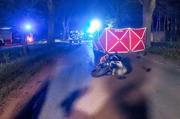 Zdjęcie z miejsca wypadku /Grzegorz Michałowski /PAP