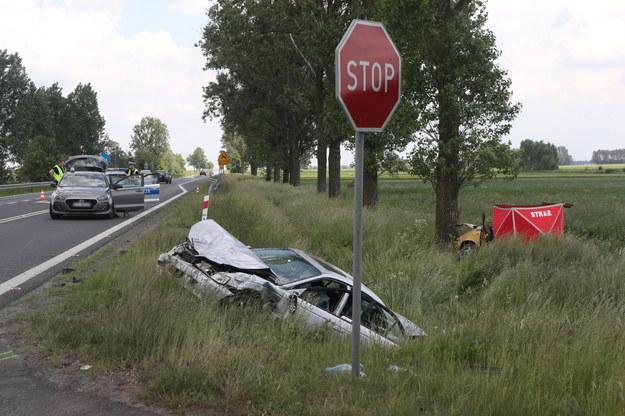Zdjęcie z miejsca wypadku /Roman Zawistowski /PAP
