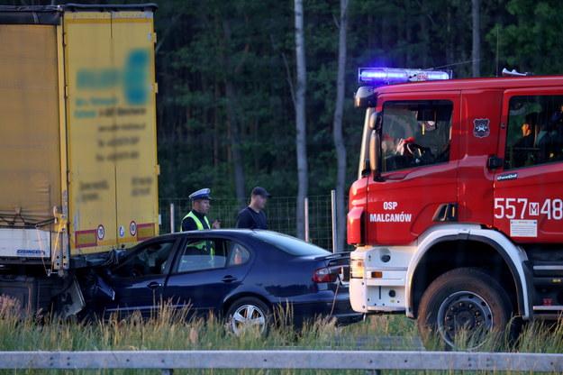 Zdjęcie z miejsca wypadku / Leszek Szymański    /PAP