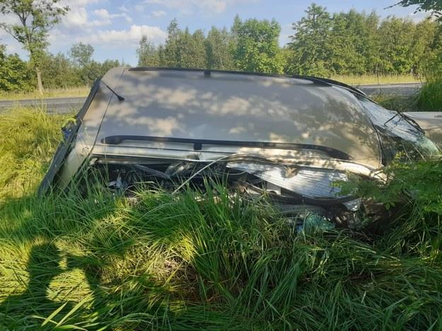 Zdjęcie z miejsca wypadku /Straż Pożarna Zgorzelec /
