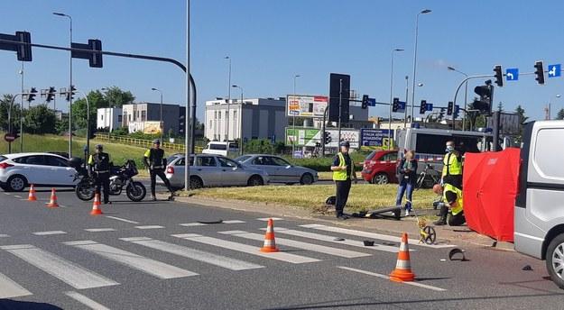 Zdjęcie z miejsca wypadku /Policja Kujawsko-Pomorska /