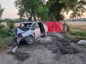 Zdjęcie z miejsca wypadku /KPP Sztum /Policja