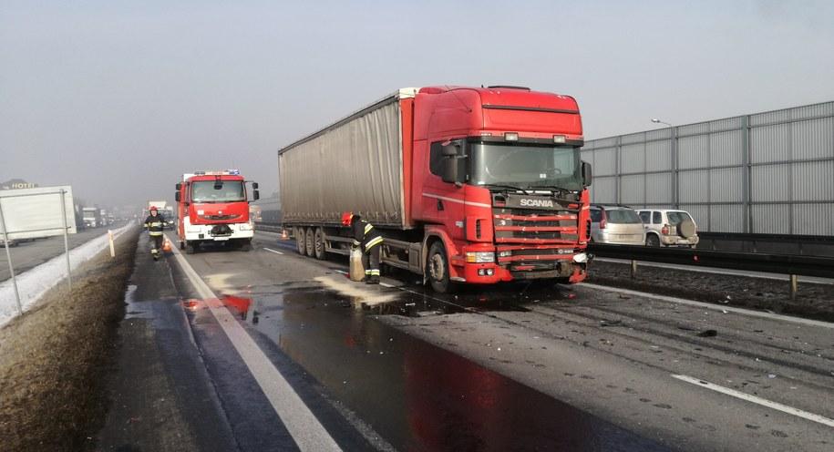 Zdjęcie z miejsca zdarzenia /Bielskie Drogi /Gorąca Linia RMF FM