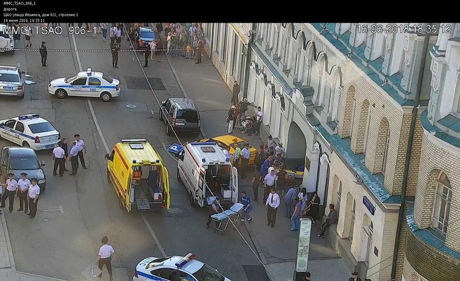 Zdjęcie z miejsca zdarzenia /Moscow Government's Center of Traffic Control / HANDOUT /PAP/EPA