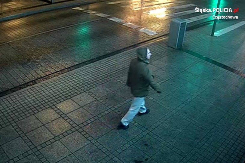 Zdjęcie z monitoringu opublikowane przez policję /Policja