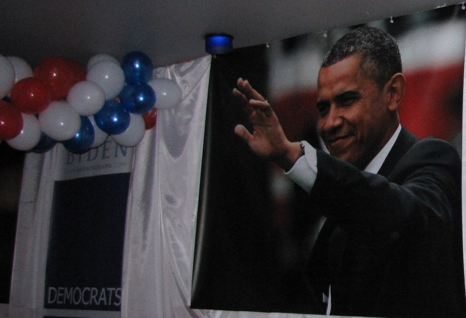 """Zdjęcie z """"narożnika Obamy"""" /Maciej Grzyb /RMF FM"""