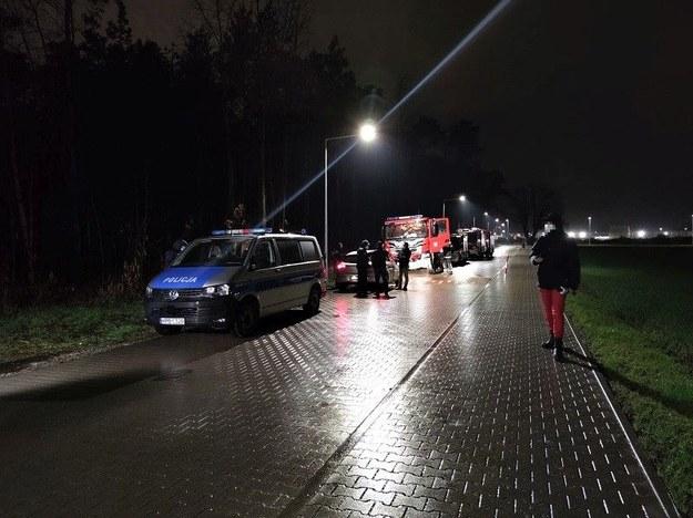 Zdjęcie z nocnych poszukiwań /Policja Wrocławska /