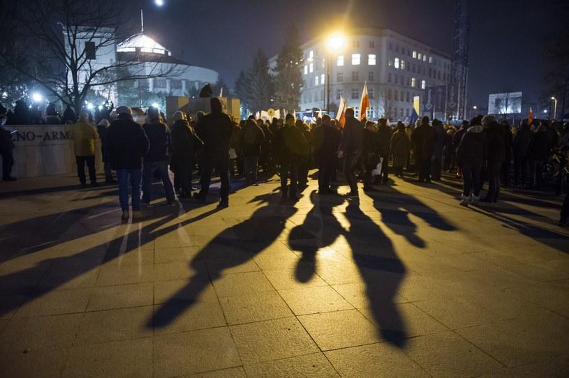 Zdjęcie z nocnych protestów /Bartosz Krupa /East News