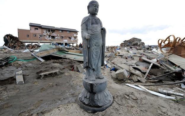 Zdjęcie z okolic Japonii dotkniętych kataklizmem /AFP