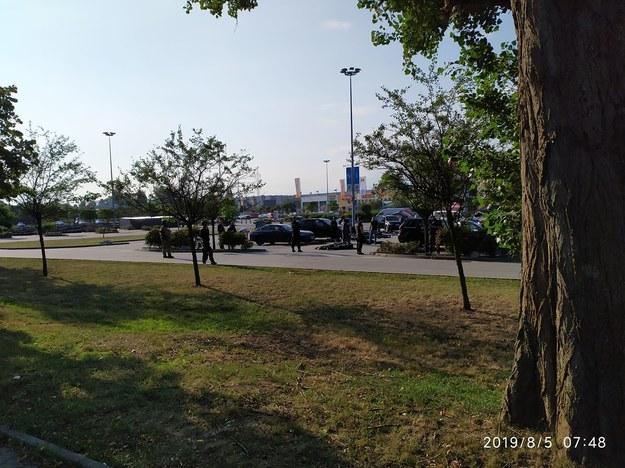 Zdjęcie z parkingu przy M1 w Krakowie /Gorąca Linia RMF FM