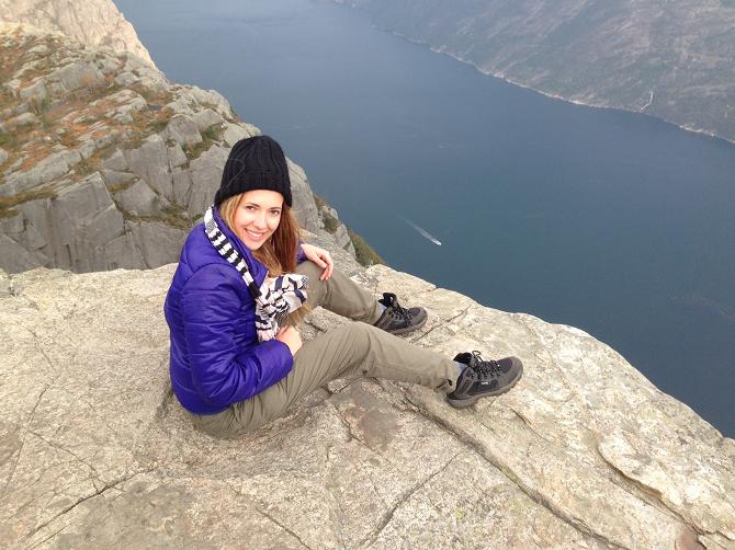 Zdjęcie z podróży po Norwegii, klif Preikestolen /Archiwum prywatne /INTERIA.PL