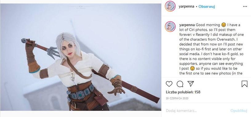 Zdjęcie z profilu yarpenna w serwisie Instagram /materiały źródłowe