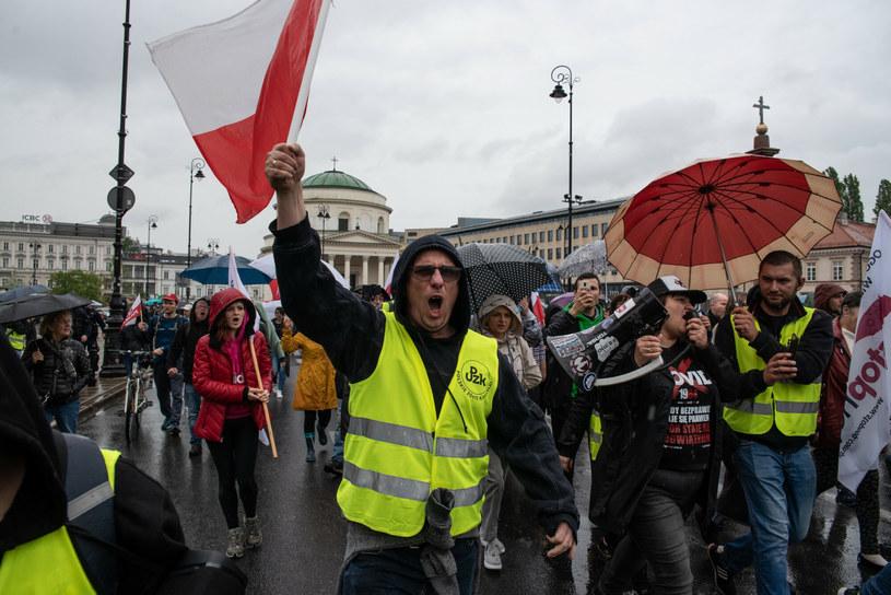 Zdjęcie z protestu /Stanisław Różycki /Reporter
