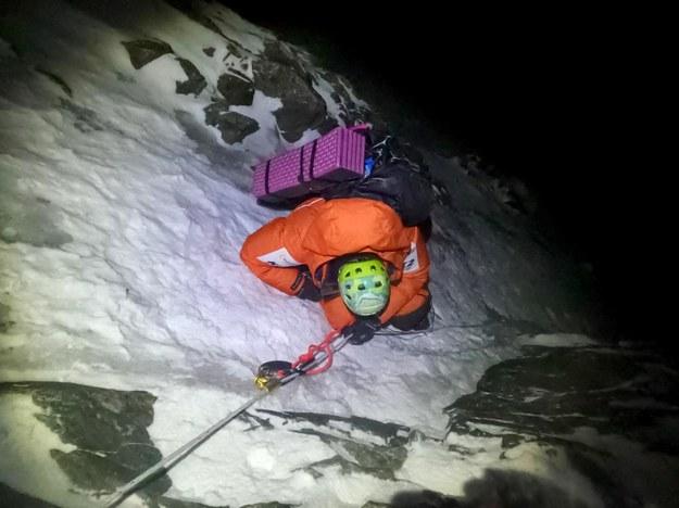 Zdjęcie z przerwanego ataku szczytowego Magdaleny Gorzkowskiej /ŹRÓDŁO: #GorzkowskaInPostK2Winter /