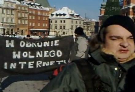 Zdjęcie z sobotniej manifestacji - zrzut ekranu z serwisu YouTube /Internet