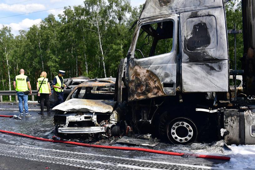 Zdjęcie z wypadku na autostradzie A6 /ANDRZEJ SZKOCKI/POLSKA PRESS /East News