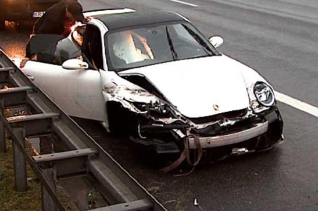 Zdjęcie z wypadku pod Katowicami. Fot. TVS /