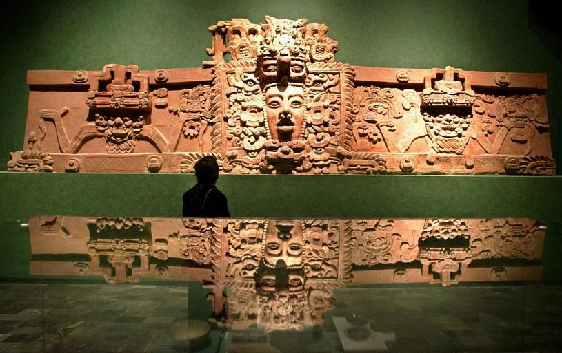 Zdjęcie z wystawy poświęconej cywilizacji Majów /Jorge Uzon /AFP