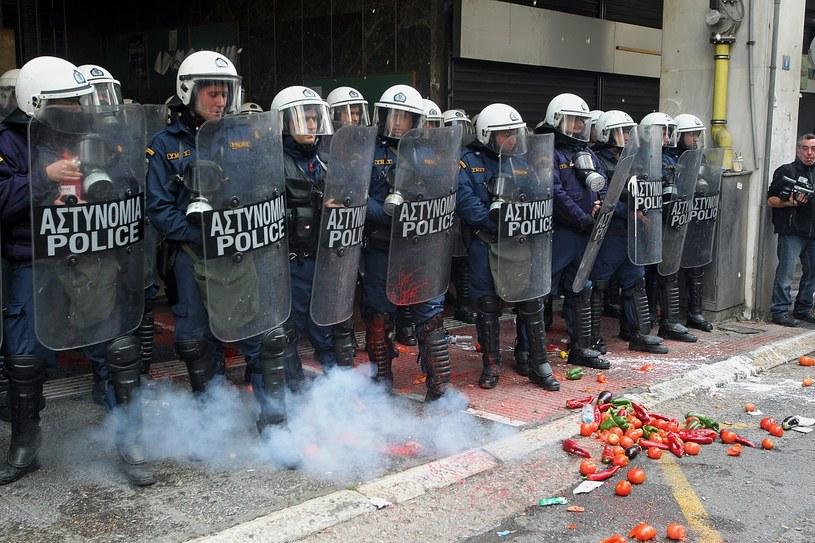 Zdjęcie z zamieszek /PAP/EPA