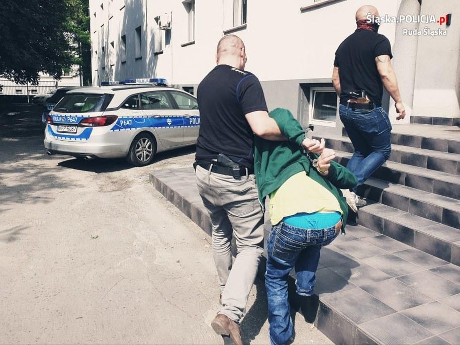 Zdjęcie z zatrzymania 50-latka /Policja