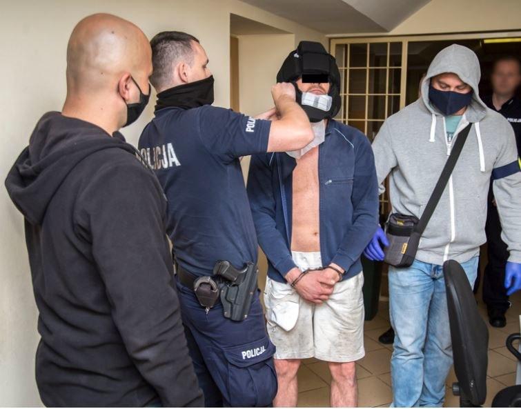 Zdjęcie z zatrzymania mężczyzny /Policja /