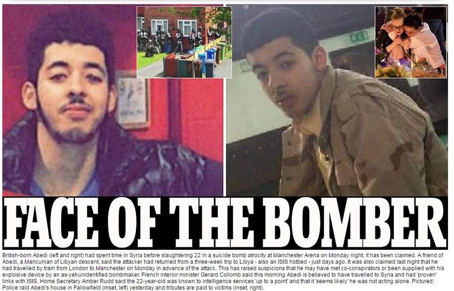 Zdjęcie zamachowca publikuje brytyjska gazeta Daily Mail /