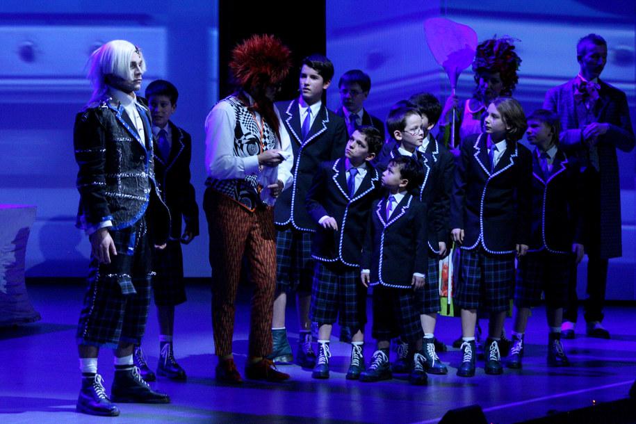 """zdjęcie ze spektaklu """"Akademia Pana Kleksa""""  /fot. Teatr Roma"""