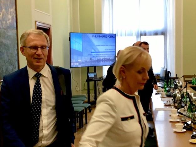 Zdjęcie ze spotkania polityków PiS z przedstawicielami Philip Morris Polska /Patryk Michalski /RMF FM
