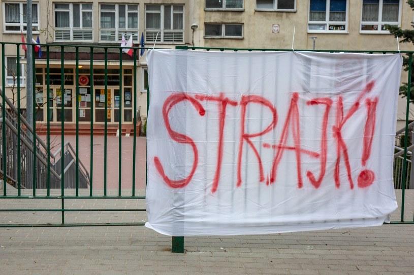 Zdjęcie ze strajku w jednej ze szkół; zdj. ilustracyjne /Piotr Hukalo /East News